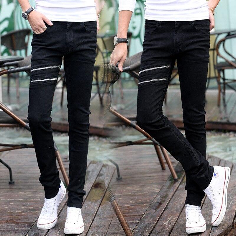 Spring MEN'S Jeans Micro Elastic Korean-style Slim Women's Skinny Pants Men's Slimming Trousers 808