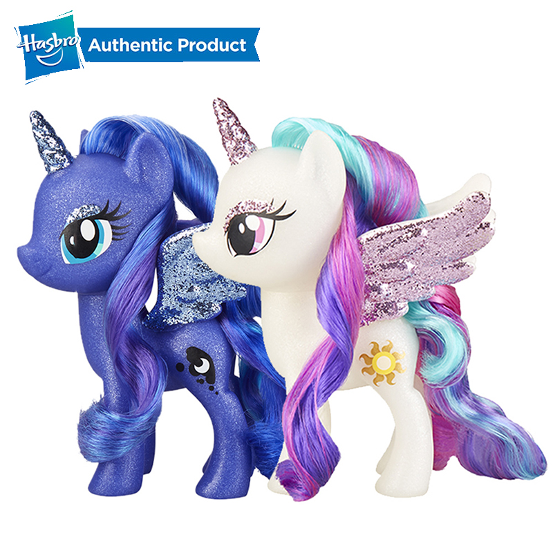 Hasbro My Little Pony Toy Princess Celestia Sparkling 6-inch Figure For Kids Ages 3 Years Old And Up Rooted Hair Doll
