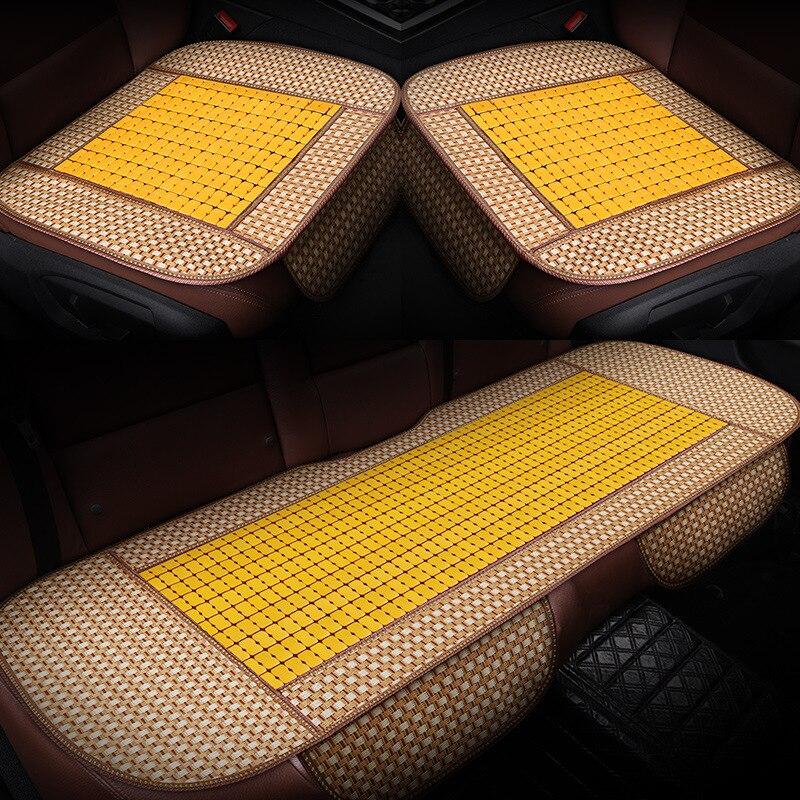 Автомобильная подушка для сиденья, che dian zi Mahjong, бамбуковые автомобильные коврики, газированные бамбуковые летние автомобильные крутая Поду...