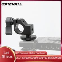 CAMVATE – pince à tige unique Standard, adaptateur de connecteur de Rail de 15mm avec support de chaussure chaude/froide pour DSLR, accessoires de photographie