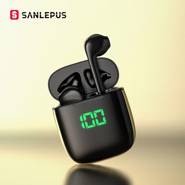 SANLEPUS wyświetlacz Led TWS słuchawki bezprzewodowe słuchawki 3D Stereo słuchawki douszne sportowe słuchawki dla androida iPhone Xiaomi Huawei