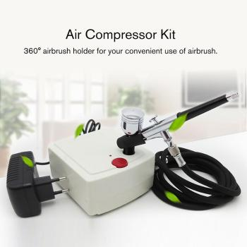 Hot Sale 2020 Mini Dual Action Spray Gun Airbrush Air Compressor Set Gravity Feed Air Brush Kit for Tattoo Manicure Craft Cake eu plug dual action mini airbrush with compressor cake decoration 100 250v with airbrush cleaning set and mini air filter