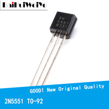 100PCS/LOTE 2N5551 N5551 TO-92 TO92 triode transistor 0.6A/160V NPN New Original Good Quality Chipset