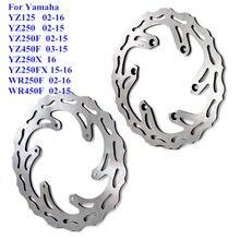 134 мм стальной передний и задний тормозной диск для мотоцикла Yamaha WR250F WR450F YZ125 YZ250 YZ250F YZ450F YZ250X YZ250FX 2002-2016