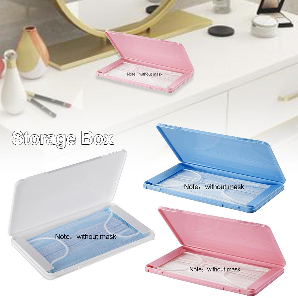 Face Mask Storage Box Case Dustproof Mask Container For Storing Disposable Facial Mask