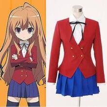 Cos aisaka taiga cosplay festa de halloween alta qualidade traje homem/mulher anime tiger×dragon! Traje Cosplay