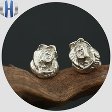 Skull Rose Stud Earrings S925 Sterling Silver Stud Earrings Women's Sterling Silver Stud Earrings