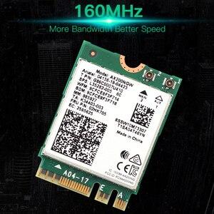 Image 4 - Dual Band Wifi 6 אלחוטי 2400Mbps AX200NGW NGFF M.2 Wlan Bluetooth 5.0 Wifi כרטיס 802.11ac/ax עבור אינטל AX200 אנטנות סט