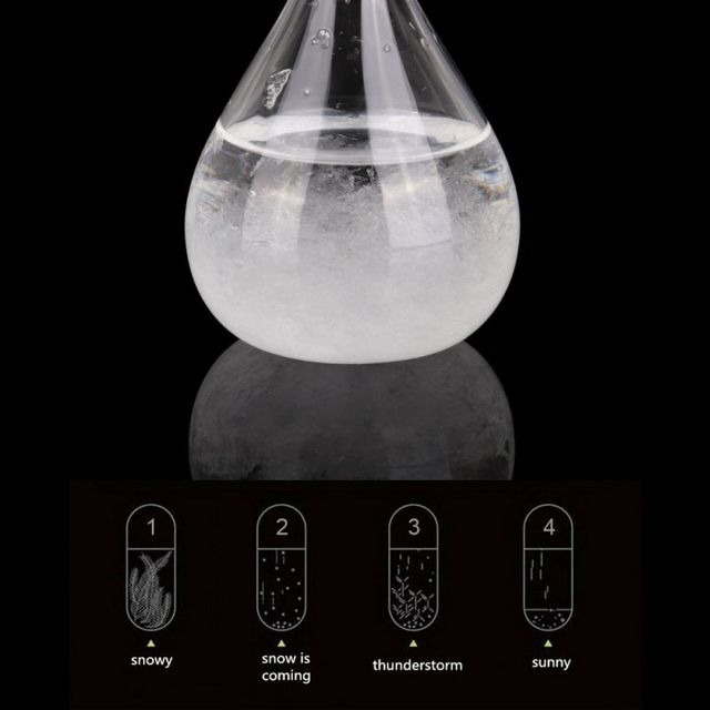 30ml Barometer Transparent Droplet Storm Glass Water Drop Weather Storm Forecast Predictor Monitor Bottle Barometer Home Decor 2