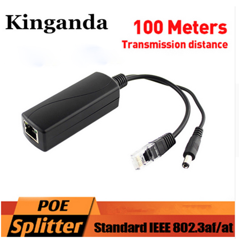New Active PoE Splitter Power Over Ethernet 48V To 12V 2A IEEE802.3af Standard Charm Synthesizer Separator Combiner