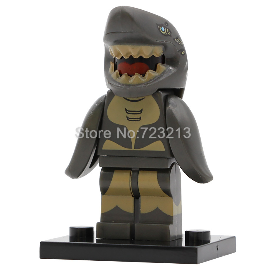 Shark Man Figure Single Sale Building Blocks Movie Set Model Kits Bricks Compatible With Legoing Toy For Children
