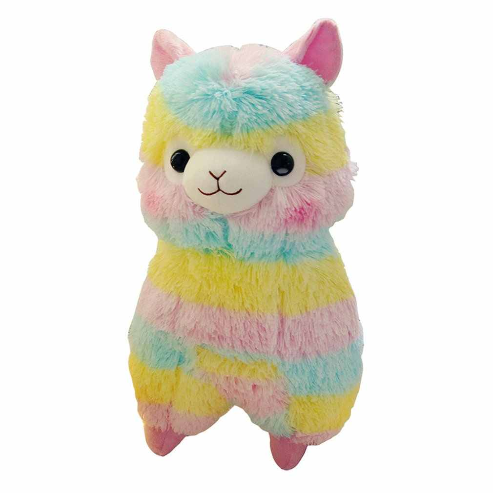 Colorful Kawaii Alpaca Llama Cute Grass Mud Horse Soft Plush Doll Toy Animal Stuffed Animal Toy for Kids Birthday Gifts Toys New