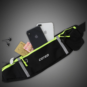 "Image 4 - 7"" Running Marathon Waist Bag Sports Climbing Hiking Racing Gym Fitness Belt Water Bottle Hip Waist Pack for iphone 11 pro max"