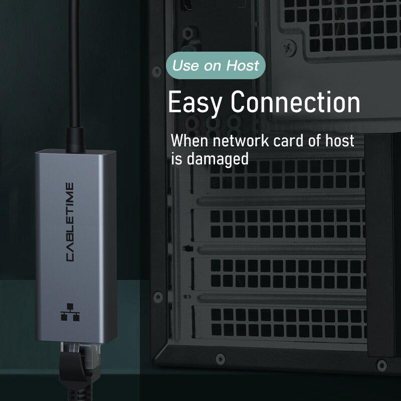 CABLETIME USB Ethernet Adapter 1000Mbps USB 3.0 2.0 LAN RJ45 Adapter for Laptop Nintendo Switch Macbook Air USB LAN C358 5
