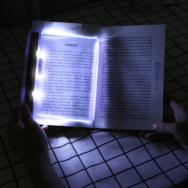 Creative LED Flat Night Vision Book Light Portable Wireless Eye Protection Reading Panel Light for Dormitory Office