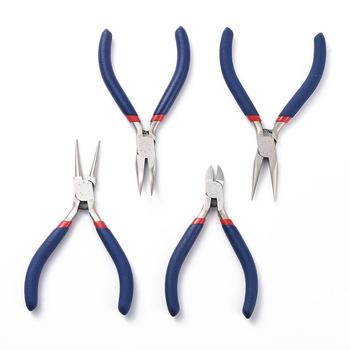 Jewelry Pliers Sets Ferronickel Carbon-Hardened Steel Side Cutting Round/Bent/Long Chain Nose Pliers DIY Making Jewelry Tools