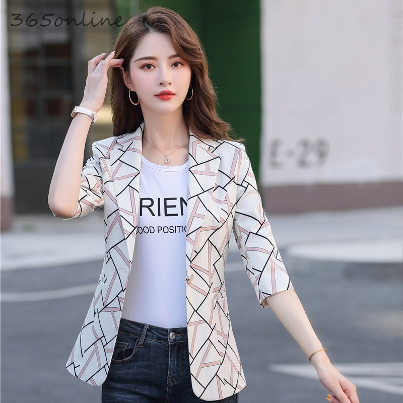 New Fashion Styles Spring Summer Formal Business Blazers Coat For Women Professional Casual OL Styles Jackets Ladies Blaser Tops