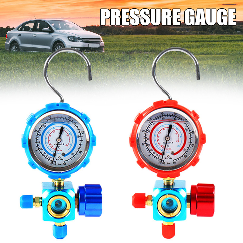 Refrigerant Manifold Gauge Manometer Valves Pressures Gauge Air Conditioner Tool R410a PUO88