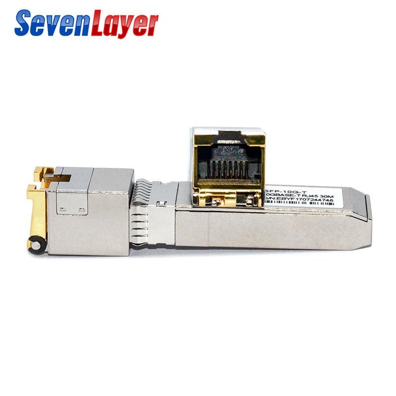 sfp 10G Base T GBIC Gigabit port SFP RJ45 module code Sfp module Compatible with various switches ethernet module