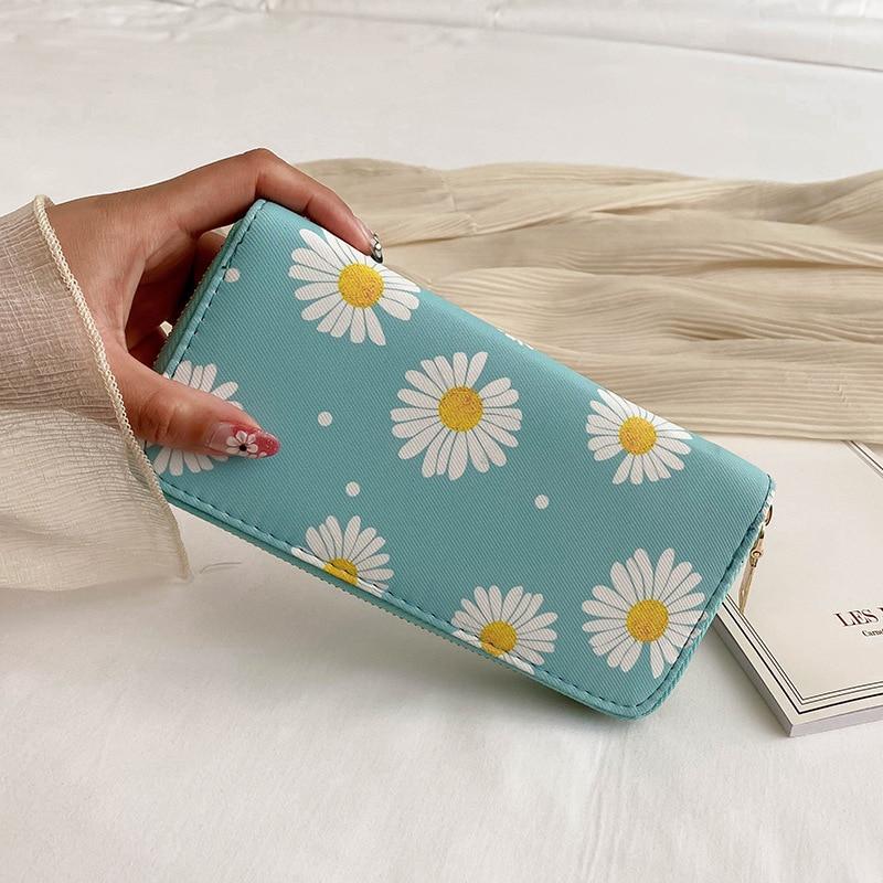 Cartera de mano con cremallera para mujer, cartera de mano con cremallera, larga, para teléfono móvil, cero, 2020