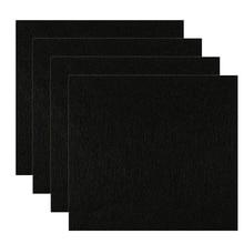 4Pcs Black Home Universal Cat Litter Box Filter Durable Cutable Efficient Pet Supplies Garden Deodorant Pad Activated Carbon