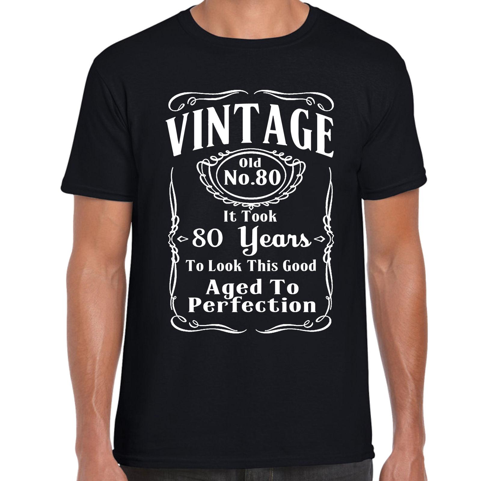 100% Cotton Fashion T Shirts Crew Neck Short-Sleeve Fashion Mens 80Th Birthday 80 Years Old Retirment Tees