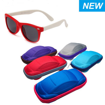 Multifunctional Carton Car Shaped Sunglasses Case With Clasp Originality Automobile Styling glasses box for children Gift Toy image
