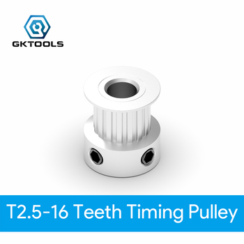 T2.5 Timing Pulley 16 teeth Bore 4mm 5mm 6mm 6.35mm for width Synchronous Belt Small backlash 16Teeth image