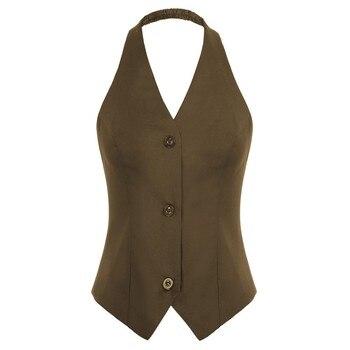 Belle Poque Women Halter Jackets Tops Summer Autumn Backless V-Neck Single Breasted Handkerchief Hem Coat Vintage Crop Tops Lady 14