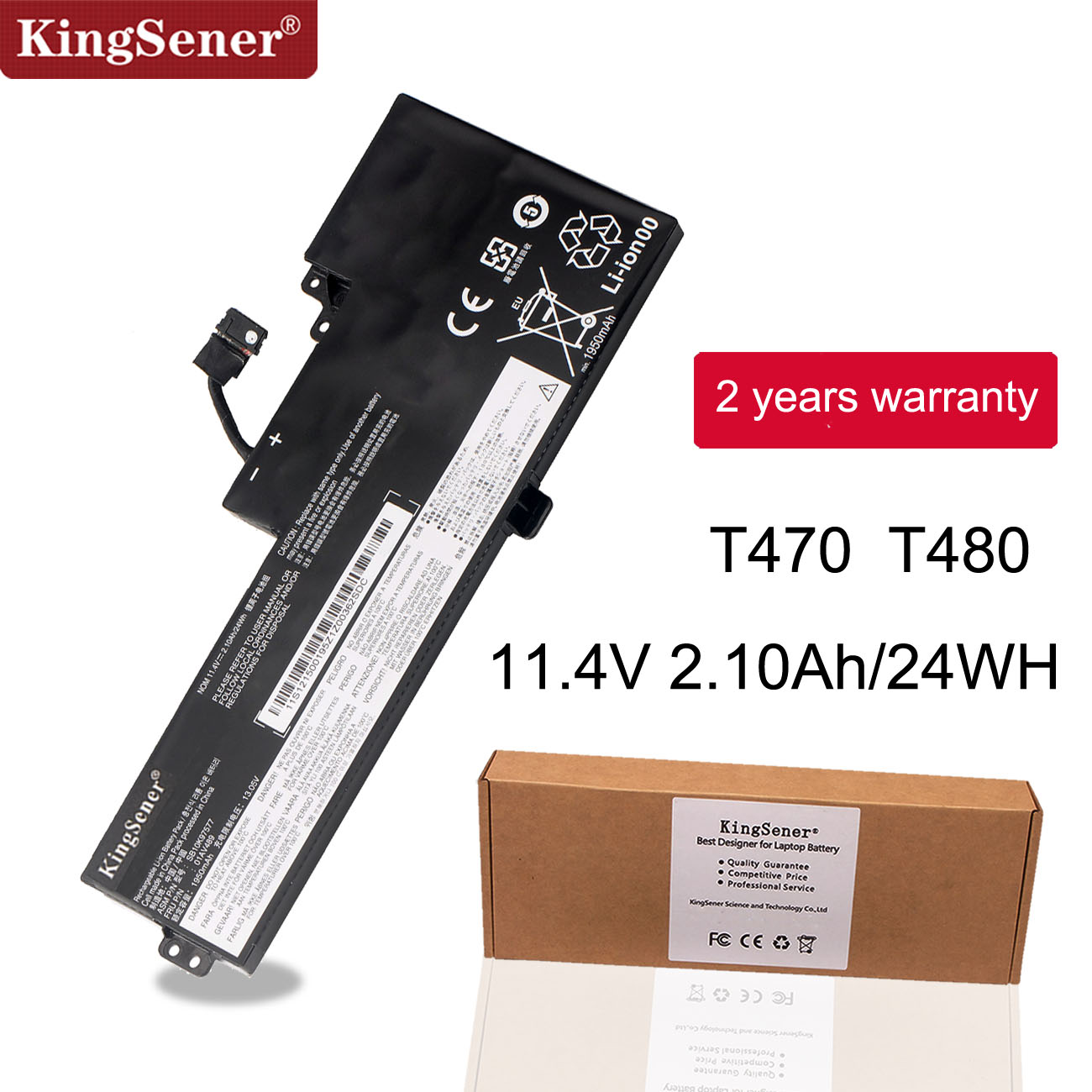 KingSener Laptop Battery For Lenovo ThinkPad T470 T480 A475 A285 Series 01AV419 01AV420 01AV421 01AV489 SB10K97576 SB10K97578
