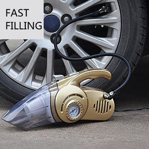 Car-Vacuum-Cleaner Air-Compressor Inflatable-Pump Digital Auto Portable 4-In-1 with Display