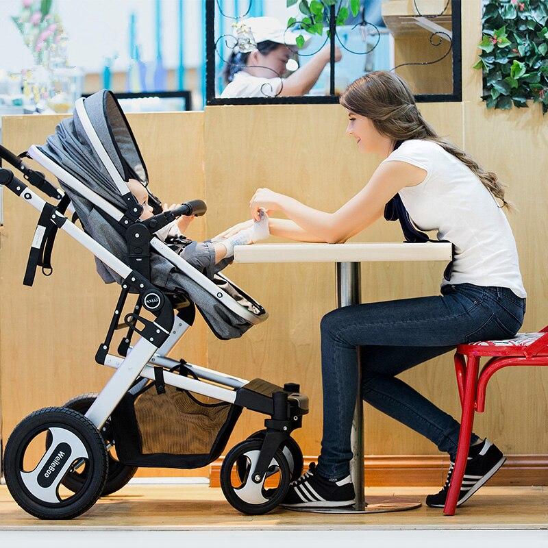 3 em 1 com Assento de Carro Do bebê Carrinho De Criança Alta Paisagem Carrinho De Bebê Carrinho de Bebê Dobrável Carrinhos Hot Mãe Do Bebê Do Assento de Carro transportadora carrinho de criança