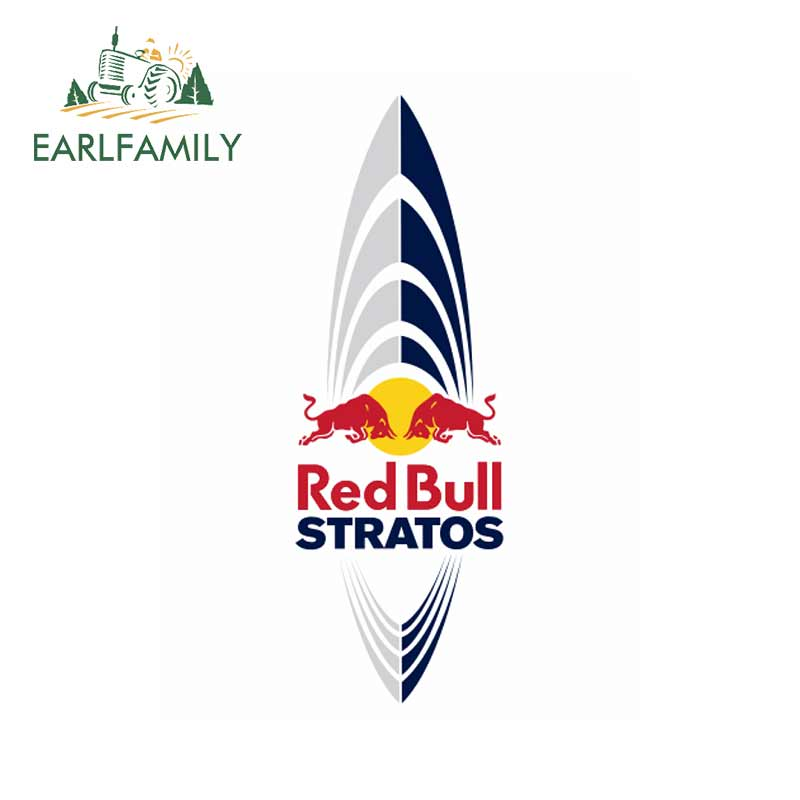 EARLFAMILY 13cm X 4.5cm Funny Car Stickers Waterproof JDM RV Racing Car Decals For Red Of Bull Graphics Vinyl Car Wrap