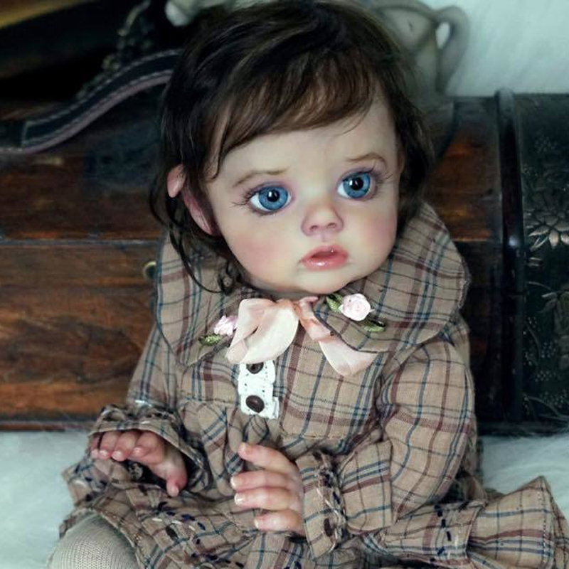 RBG Bebe Reborn Kit Reborn Baby Vinyl Kit 12 Zoll Flo Mini Elf Unlackiert Unfinished Puppe Teile DIY Blank Reborn puppe Kit