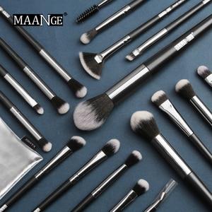 Image 3 - MAANGE Pro 5 20Pcs Makeup Brushes Set Multifunctional Brush Powder Eyeshadow Make Up Brush With Portable PU Case Beauty Tools