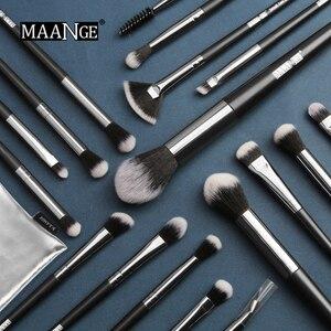 Image 3 - Maangeプロ 5 20 個メイクブラシセット多機能ブラシブラシメイクアップポータブルpuケース美容ツール