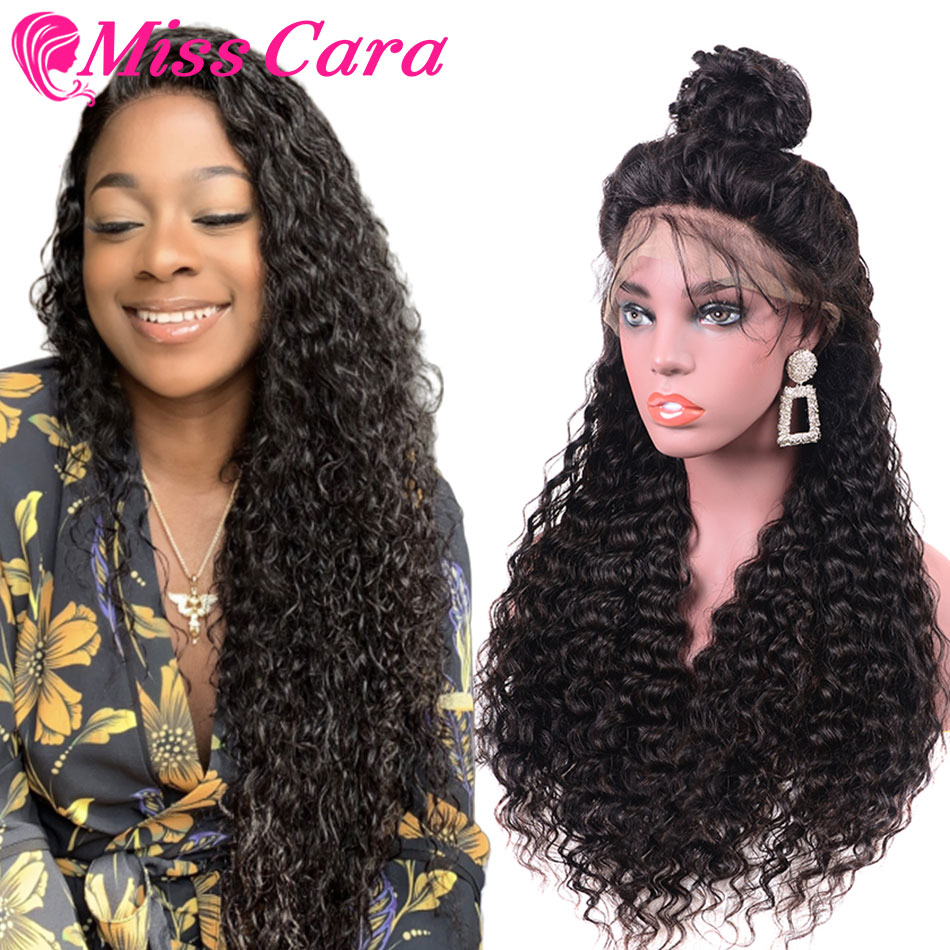 100% Human Hair Wigs For Women Peruvian Water Wave Pre-Plucked Lace Frontal Wig 150% Density With Baby Hair Miss Cara Remy Wigs