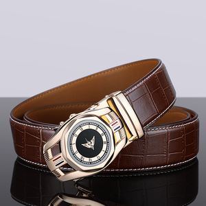 Image 3 - Cow genuine leather luxury strap male belts for men new fashion classice Automatic buckle men belt High Quality