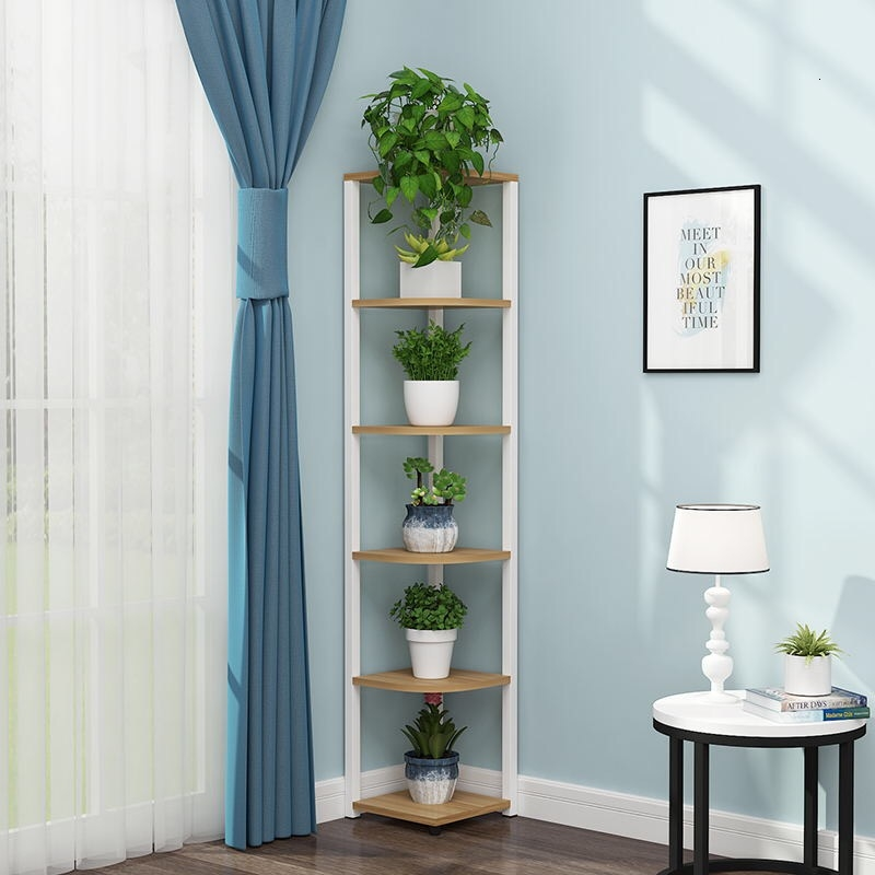 Living Room Province Space Flowerpot Landing Type Green Airs Multi-storey Corner Indoor Flower Rack Angle Shelf