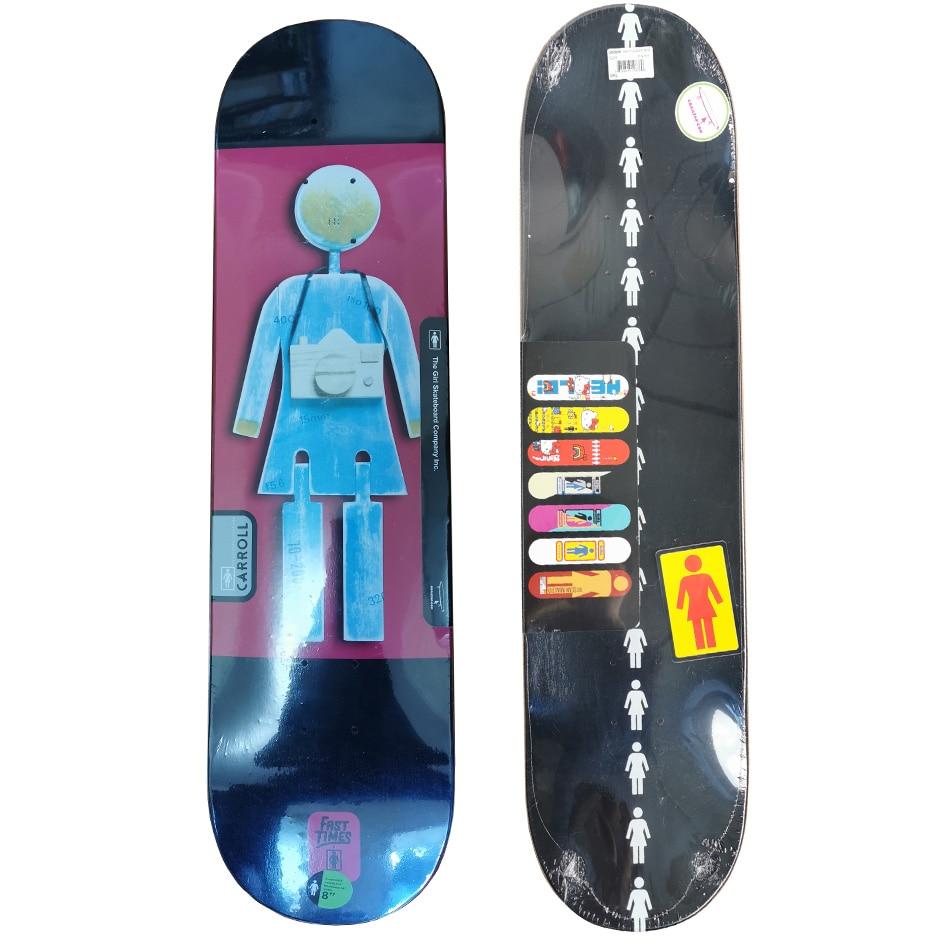 8inch New Design Girl Skateboard Decks Full Canadian Maple Epoxy Glue Three Plies Are Deyed Colors Professional Level
