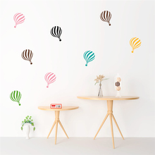 colorful hot air balloon wall stickers for kids rooms baby room nursery home decor wall decals diy wallpaper vinyl mural art watercolor airplane hot air balloon wall sticker kids baby rooms home decoration pvc mural decals nursery stickers wallpaper