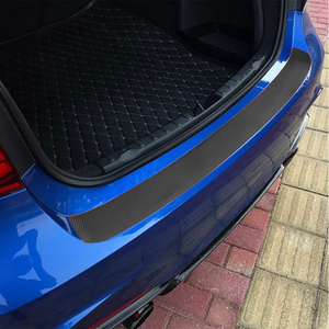 Car Trunk Door Plate Rear Bumper Guard Protector Rubber Pad Durable Protective Self-adhesive Car Rear Bumper Protector Set
