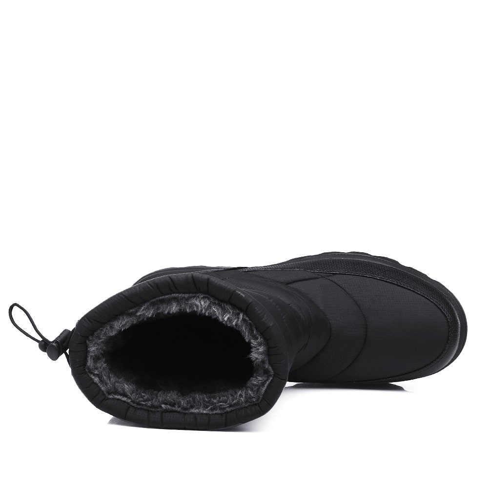 YWEEN Stivali Uomini Stivali Da Neve 2020 Nuovo Nero Impermeabile Degli Uomini di Inverno Stivali di Peluche Molto Caldo Non-slip di Cotone All'aperto scarpe Calzature
