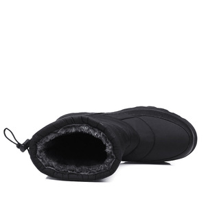 Image 4 - Yweenブーツ男性の雪のブーツ2020新ブラック防水男性の冬のブーツ豪華な非常に暖かいノンスリップ屋外綿靴靴