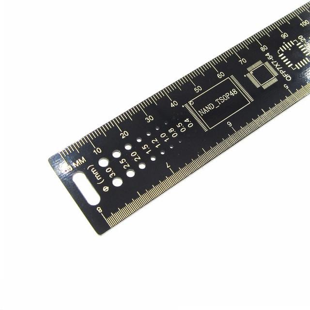 25 см многофункциональная линейка печатных плат, измерительный инструмент, резистор, микросхема конденсатора IC SMD диодный транзистор, посыл...