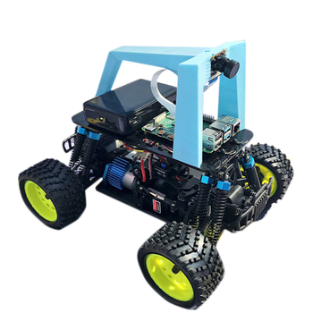 Artificial Intelligence Car Programmable Autopilot Donkey Robot Car Kit with Racing Track for Raspberry Pi4 Development Board