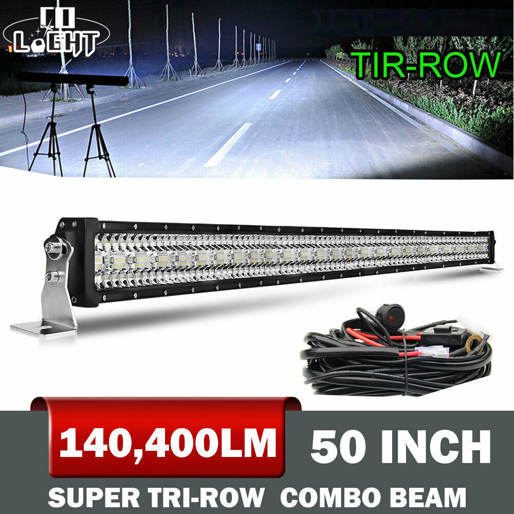 CO LIGHT 12D Super Brighter 936W 4x4 Led Bar Offroad 50inch 3-Rows Spot Flood Combo Beam Light Bar For Tractors Boat Jeep Trucks