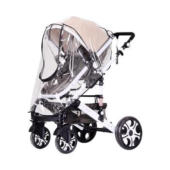 Baby Stroller Rain Cover Waterproof Rain Cover Transparent Windproof Dust Cover With Zipper Summer Rain Dedicated Child Stroller