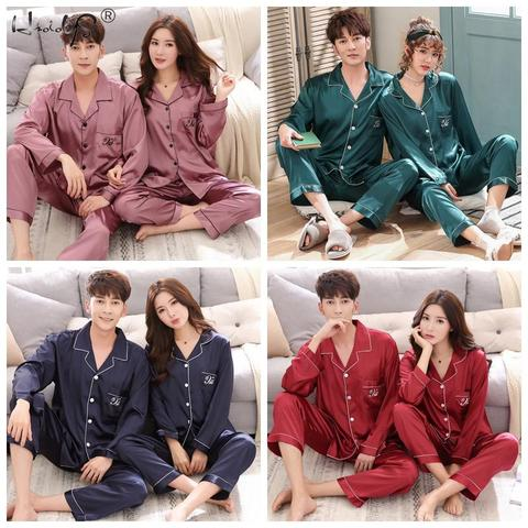 Luxury Pajama suit Satin Silk Pajamas Sets Couple Sleepwear Family Pijama Lover Night Suit Men & Women Casual Home Clothing Multan