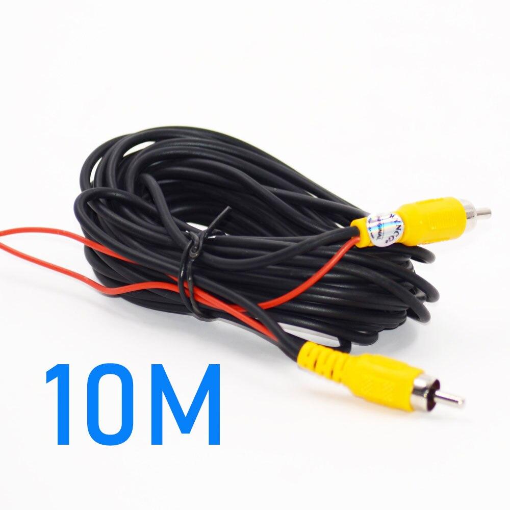 Универсальный авто RCA AV кабель жгут проводов для автомобиля заднего вида камеры парковки 6 м видео удлинитель - Название цвета: 10M